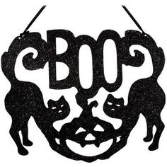 Black Cats With Boo Sign