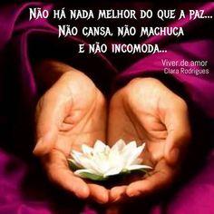 """""""Não há nada melhor do que a paz... Não cansa, não machuca e não incomoda..."""" Clara Rodrigues #viverdeamor #amor #fé #Deus #oração #Prece #vida #paz #Bênção #gratidão #espiritualidade #2017 #9denovembro #Boanoite"""