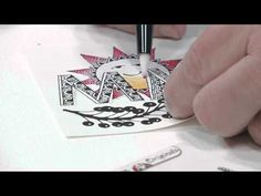 YouTube Video: How to Use Markers and a Blending Pen with Zentangle. Arts and crafts expert Suzanne McNeill is back again for another exciting free art lesson, this time to demonstrate how to use markers and a blending pen to color your Zentangle! Follow along as Ms. McNeill colors in the rays of a cartoon sun, and finishes his face with a highlight in the middle! For anyone already enjoying the benefits of Zentangle, this is a great way to enhance your creative spirit by adding color!