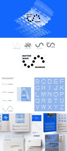 Branding Matter Wave Museum is a fictional science museum conveying a friendlier, demystified representation of quantum mechanics, educating the public about the unknown world of matter waves. Graphic Design Branding, Identity Design, Visual Identity, Logo Branding, Logo Design, Brand Identity, Ci Design, Wave Design, Museum Identity