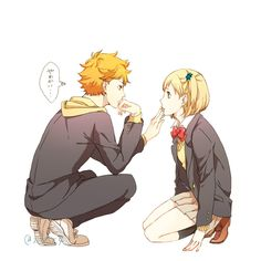 pixiv is an illustration community service where you can post and enjoy creative work. A large variety of work is uploaded, and user-organized contests are frequently held as well. Hinata Shouyou, Haikyuu Karasuno, Haikyuu Fanart, Haikyuu Anime, Anime Naruto, Manga Anime, Haikyuu Ships, Anime Love Couple, Cute Anime Couples