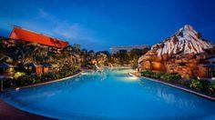 Pool at night at Disney's Polynesian Resort - Florida