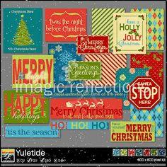Free Yuletide Christmas Labels