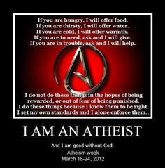 the biggest misconception about atheism, in my opinion, is that there is no concern for others, or desire to do what's right. this is what i wish people knew....