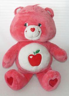 "Care Bear Smart Heart 2005 Jumbo Stuffed Plush Big Apple Teacher Giant Doll 26""…"