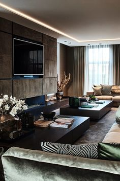 Living Room Wall Designs, Small Living Room Design, Home Room Design, Dining Room Design, Luxury Interior Design, Modern Interior, Modern Minimalist Living Room, House Ceiling Design, Big Living Rooms