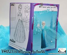 Free Disney Frozen Birthday Invitations ~ Printed invitation photo personalized disney frozen birthday