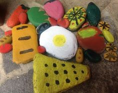 Painted Outdoor Play Food