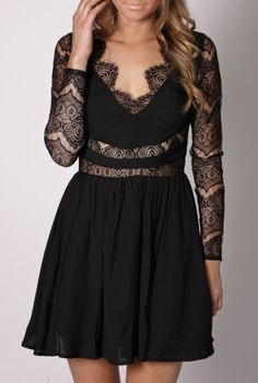 black lace party dress--adore this by shae.plush
