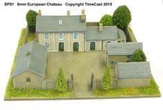 TimeCast Gallery Page Residential Architecture, Architecture Design, Wargaming Terrain, Sims House, Dream House Plans, Miniature Houses, Log Homes, Exterior Design, Future House