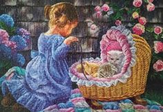 Tender Moments by artist Tricia Reilly Matthews, release year 2009 by Sunsout, 500 pieces.