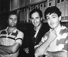 Phil Collins, Pete Townshend and Paul McCartney - three brilliant minds Peter Gabriel, Phil Collins, Banks, Paul And Linda Mccartney, Pete Townshend, Steven Tyler, Progressive Rock, Music Photo, John Lennon