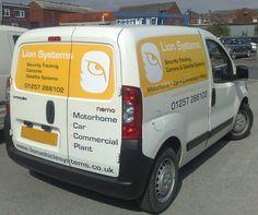 Van signage for Lion Systems Van Signage, Shop Signage, System Camera, Window Graphics, Shop Fronts, Car Shop, Motorhome, Lion, Leo