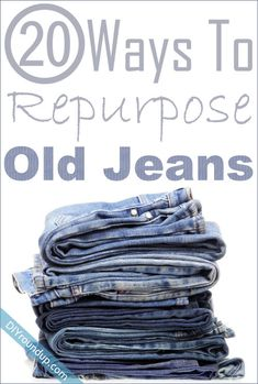 20 Ways To Repurpose Your Old Jeans / DIY Roundup on imgfave