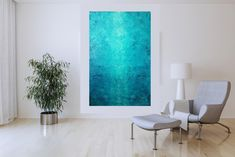 River Guard – XL blue abstract painting Blue Abstract Painting, Acrylic Painting Canvas, Abstract Paintings, Different Light, Abstract Styles, Shades Of Blue, Primary Colors, Minimalist, Acrylics