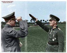 Erwin Rommel meeting Adolf Hitler
