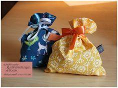 Stoffsäckchen für Adventskalender und Geschenke (Kostenlose Nähanleitung & Schnittmuster von shesmile)