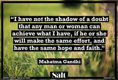 Quote from Mahatma Gandhi