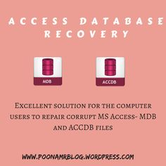Need to recover all the data from corrupt MS Access files without any loss of original one then must try the manual solution. The manual solution is very simple and reliable trick in which we had to follow the manual steps to repair the corrupt MS Access files.
