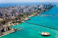 view on the city of Salvador de Bahia, Brazil