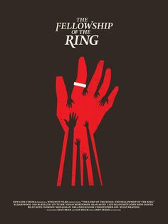 Lord of the rings:Fellowship of the ring minimal movie poster
