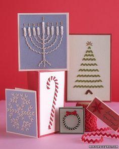 Decorazioni Natale fai da te: biglietti d'auguri