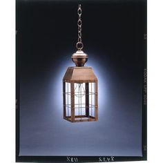 Northeast Lantern Woodcliffe 1 Light Outdoor Hanging Lantern Finish: Antique Brass, Shade Type: Clear