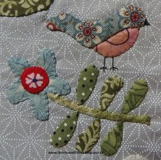 Faeries and Fibres: Rowdy Flat Library Quilt Block 3