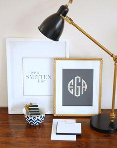 PRETTY SMITTEN | Personalized Art Print