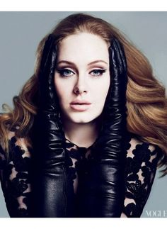 Adele - black leather gloves