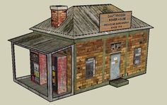 Chattanooga Power House Paper Model Messagepar mauther