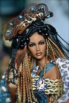 This barbie is just gorgeous! African Dolls, African American Dolls, Marie Osmond, Beautiful Barbie Dolls, Pretty Dolls, Manequin, Diva Dolls, Ashton Drake, Poppy Parker