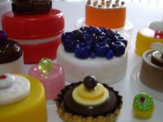 bottle cap food.... for barbie dolls
