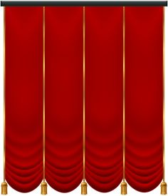 Red Curtain PNG Transparent Clip Art