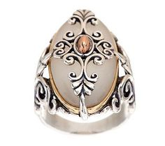 What era does this remind you of? Carolyn Pollack Pure Opulence Mixed Metal Gemstone Ring