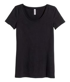 Check this out! Fitted top in jersey with short sleeves. - Visit hm.com to see more.