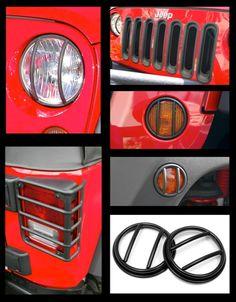 Rugged Ridge Euro Turn Signal Guards 07-17 Jeep Wrangler /& Unlimited 11142.11