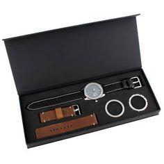 Montre homme, acier, cuir, 0.00g, Style classique - Manège à Bijoux