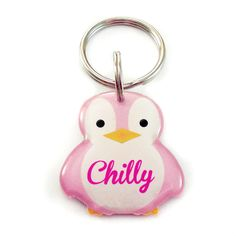 Happy Tags - Pink Penguin Pet ID for Cats and Dogs, $15.00 (http://www.happy-tags.com/products/pink-penguin-pet-id-for-cats-and-dogs.html)