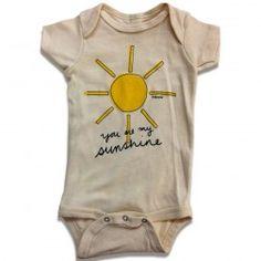 Estella you are my sunshine organic cotton short sleeve baby onepiece