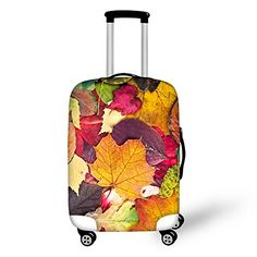 HUGSIDEA Autumn Maple Leaf Print Elastic Travel Suitcase Luggage Protective Cover with Zipper for 182022 Inch >>> To view further for this item, visit the image link. (Note:Amazon affiliate link) #LuggageTravelGear