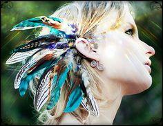 nuits de Sequoia... manchette d'oreille tribal par SpiritTribe, $56.99