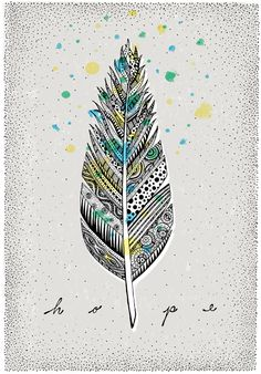 One short of a dozen, here is another pattern filled quill feather via bureauofbetterment.com