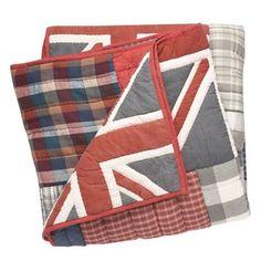Debenhams Multi-coloured Union Jack patchwork throw | Debenhams