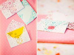 doily envelopes!