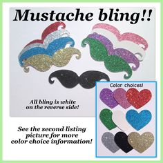 A personal favorite from my Etsy shop https://www.etsy.com/listing/184996966/bling-mustaches-glitter-mustaches