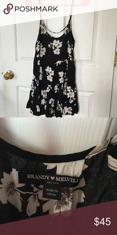 Brandy Melville Floral Jada New with tags. Price is firm. Brandy Melville Dresses Mini