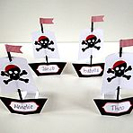 Pirates Party Place Cards