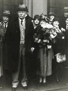 Sir Arthur Conan Doyle and his wife in Stockholm, Sweden (1929)
