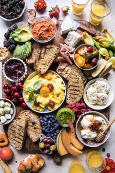 Breakfast Recipes - Brunch Bruschetta Bar Recipe Half Baked Harvest on visit the site to continue reading the recipe. Bruschetta Bar, Homemade Bruschetta, Crostini, Birthday Brunch, Brunch Party, Easter Brunch, Sunday Brunch, Brunch Table, Brunch Bar Ideas